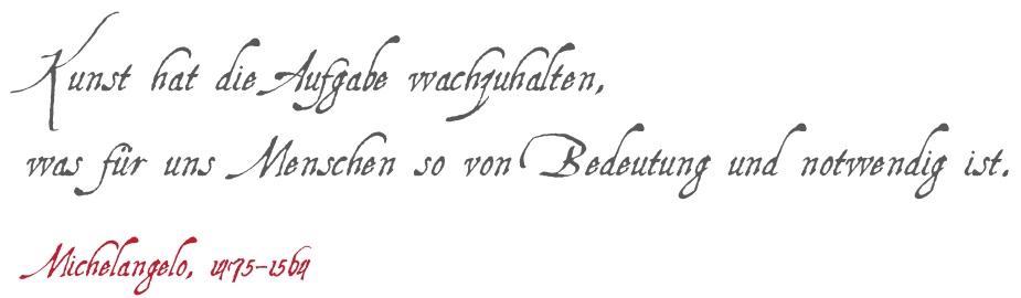 Michelangelo Zitat
