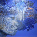 Blaues Gemälde, Gesamtansicht, Endzustand 05.2021 (2)