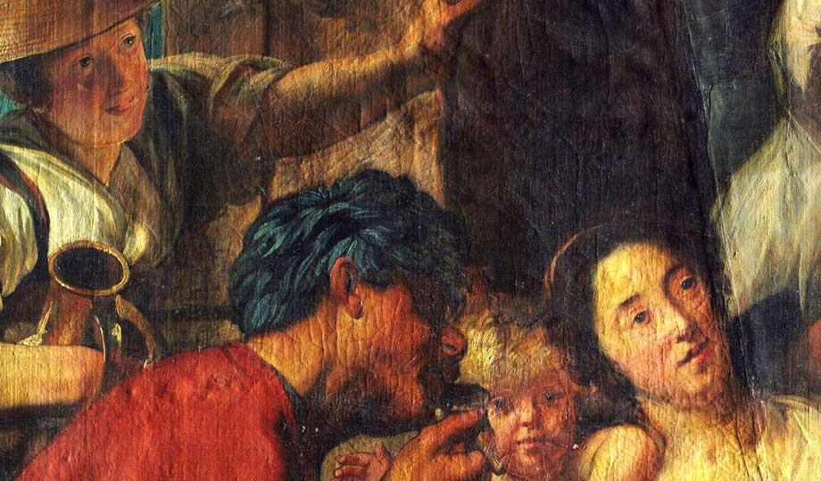 """Jacob Jordans Gemälde """"Der Satyr beim Bauern"""""""