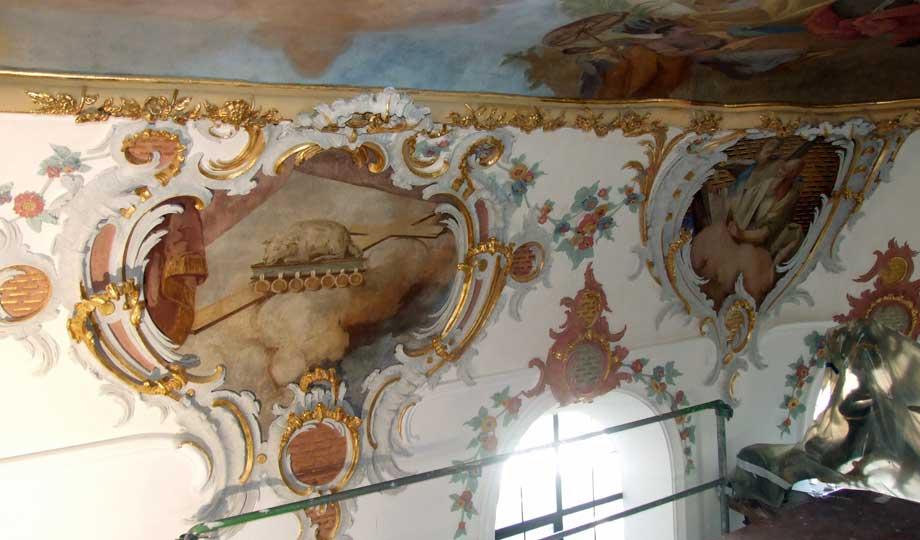 St. Anna Kirche Dinkelscherben, Restaurierung der Deckenmalereien